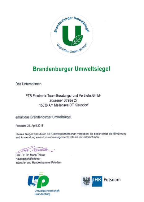 Brandenburger Umweltsiegel